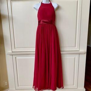 Burgundy Maxi Halter Dress
